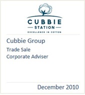 Cubbie Group, December 2010