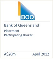 Bank of Queensland April 2012