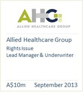Allied Healthcare Group September 2013